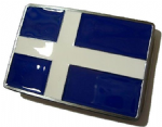 Shetland Flag Belt Buckle with display stand. Code NF2